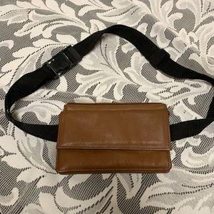Mundi genuine brown leather wallet/ fanny pack.